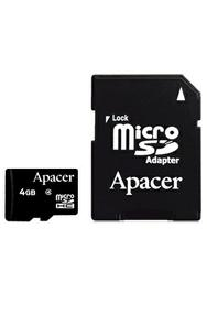 Apacer microSDHC Card Class 4 4GB + SD adapter