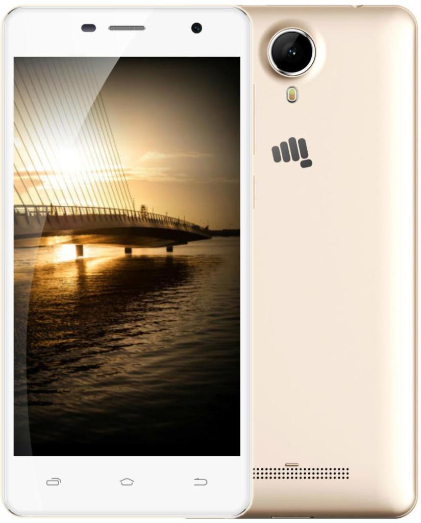 Смартфон Micromax Q351 Champagne белый 5